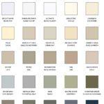 charte de couleur aluminium