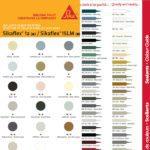 Charte des couleurs calfeutrages