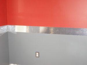 diamond plates wall decoration