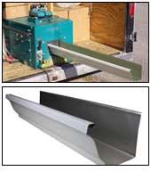 Installation des gouttières en aluminium